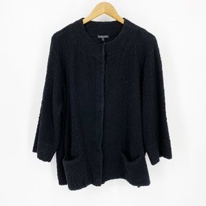 Eileen Fisher Textured Cardigan Jacket Black 3X